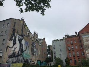 Street art in Berlin seen on a walking tour of the city