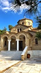 Greek Orthodox church on campus grounds